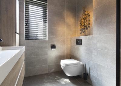 Badkamer met rustige kleuren